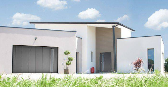 Superbe porte d 39 entr e bel 39 m moderne en alu mod le opale for Porte de garage bel m