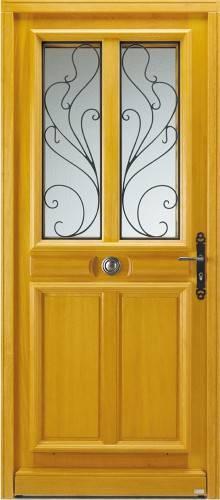 Porte d 39 entr e bois bel 39 m mod le aleria classique - Insonoriser une porte d entree ...