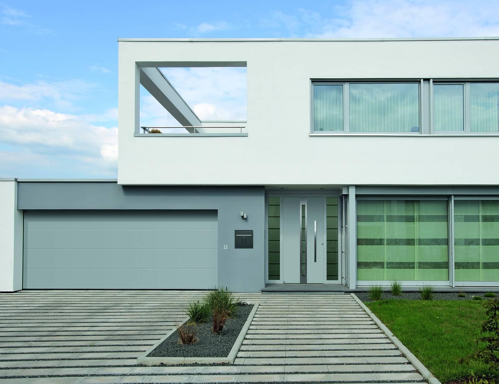 Portes d 39 entr e aluminium thermo safe et thermo carbon - Porte d entree grosfillex ...