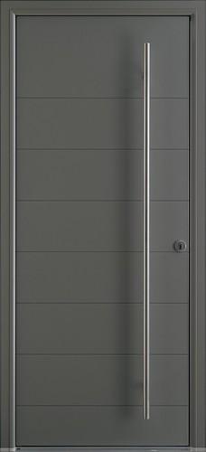 Porte d 39 entr e contemporaine bel 39 m en alu sur vitrolles for Porte de garage alinea bel m