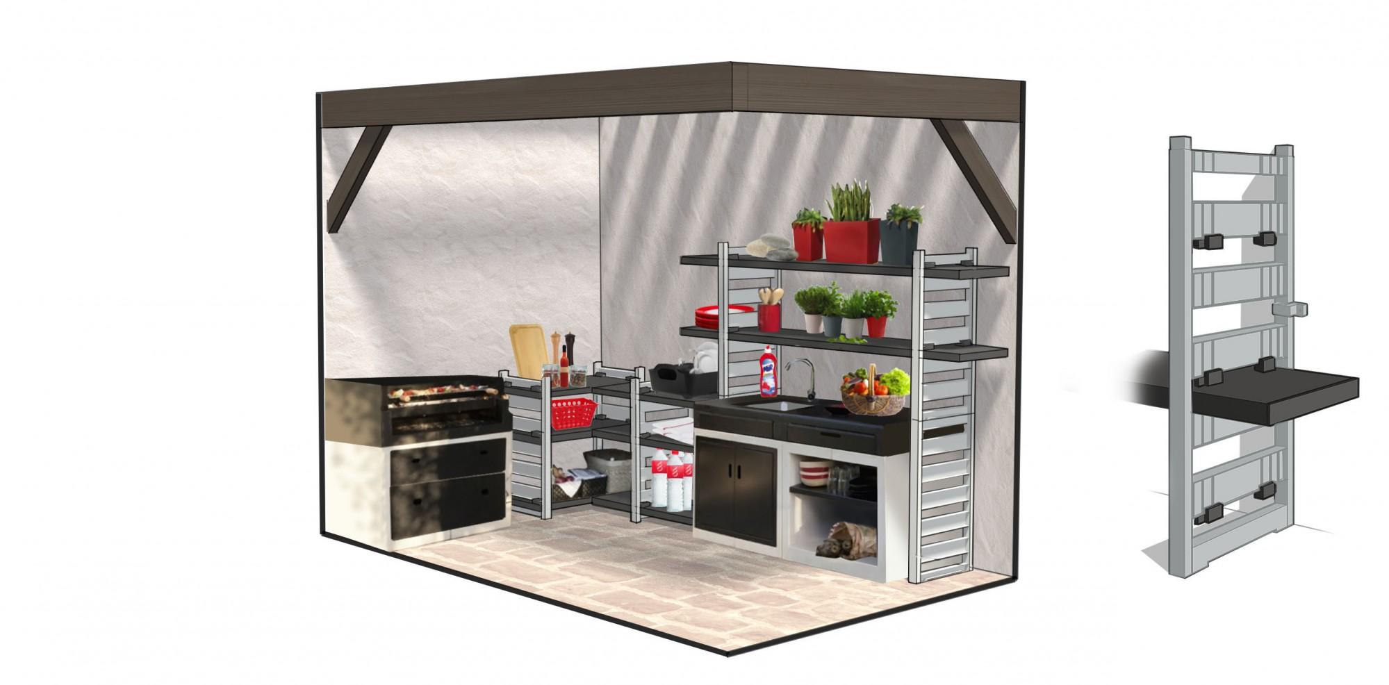 etag res de rangement modulup grosfillex vitrolles vente pose et r novation de portes d. Black Bedroom Furniture Sets. Home Design Ideas