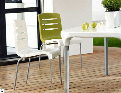 TABLE de jardin PVC GROSFILLEX Modele G-Life Dina Blanche Région ...