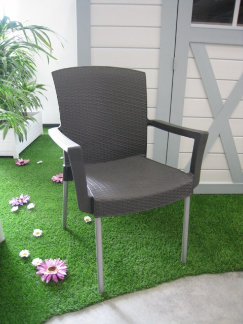 fauteuil pvc jardin grosfillex modele ineo anthracite installateur fen tres grosfillex. Black Bedroom Furniture Sets. Home Design Ideas