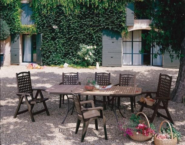 TABLE de jardin PVC GROSFILLEX Modele ORLANDO Marignane - ce produit ...