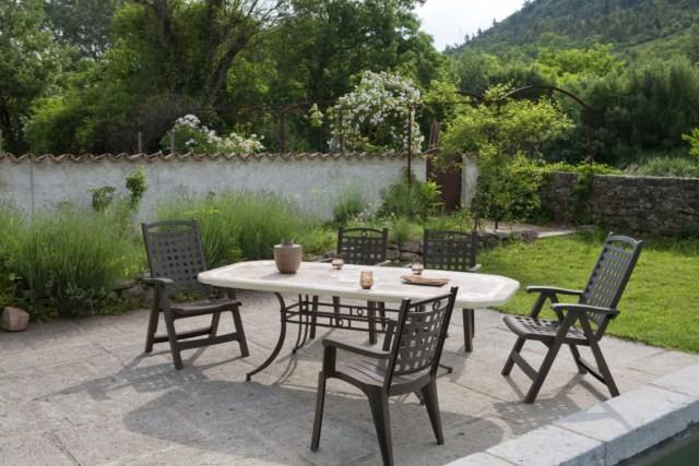 table de jardin pvc grosfillex modele amalfi et amalfi. Black Bedroom Furniture Sets. Home Design Ideas