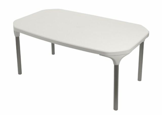 TABLE de jardin PVC GROSFILLEX Modele G-Life Dina Blanche ...
