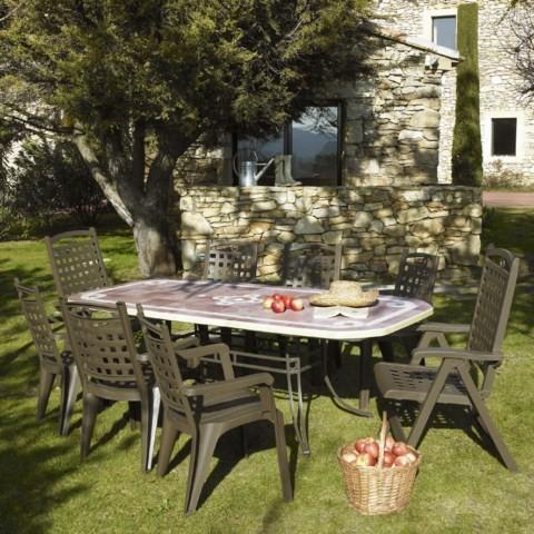 Table de jardin pvc grosfillex modele amalfi et amalfi d cor pietra install - Table de jardin en pvc ...
