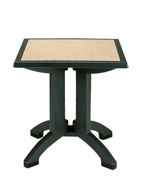 Table pvc grosfillex mod le avila rabattable 80x80 gamme for Table exterieur 80x80