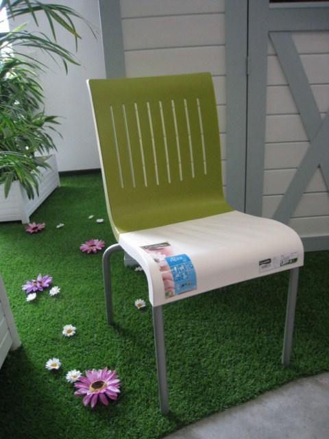 chaise pvc grosfillex modele g life coloris vert foug re vers aubagne installateur fen tres. Black Bedroom Furniture Sets. Home Design Ideas
