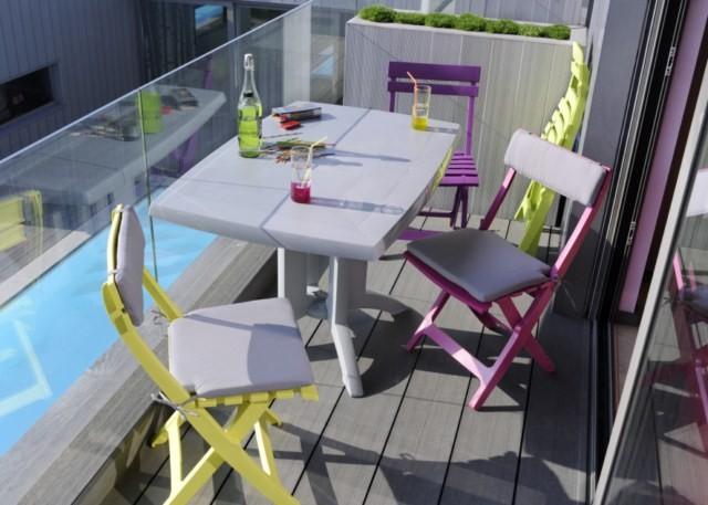 TABLE Jardin PVC GROSFILLEX Modèle VEGA PLIANTE dans les ...