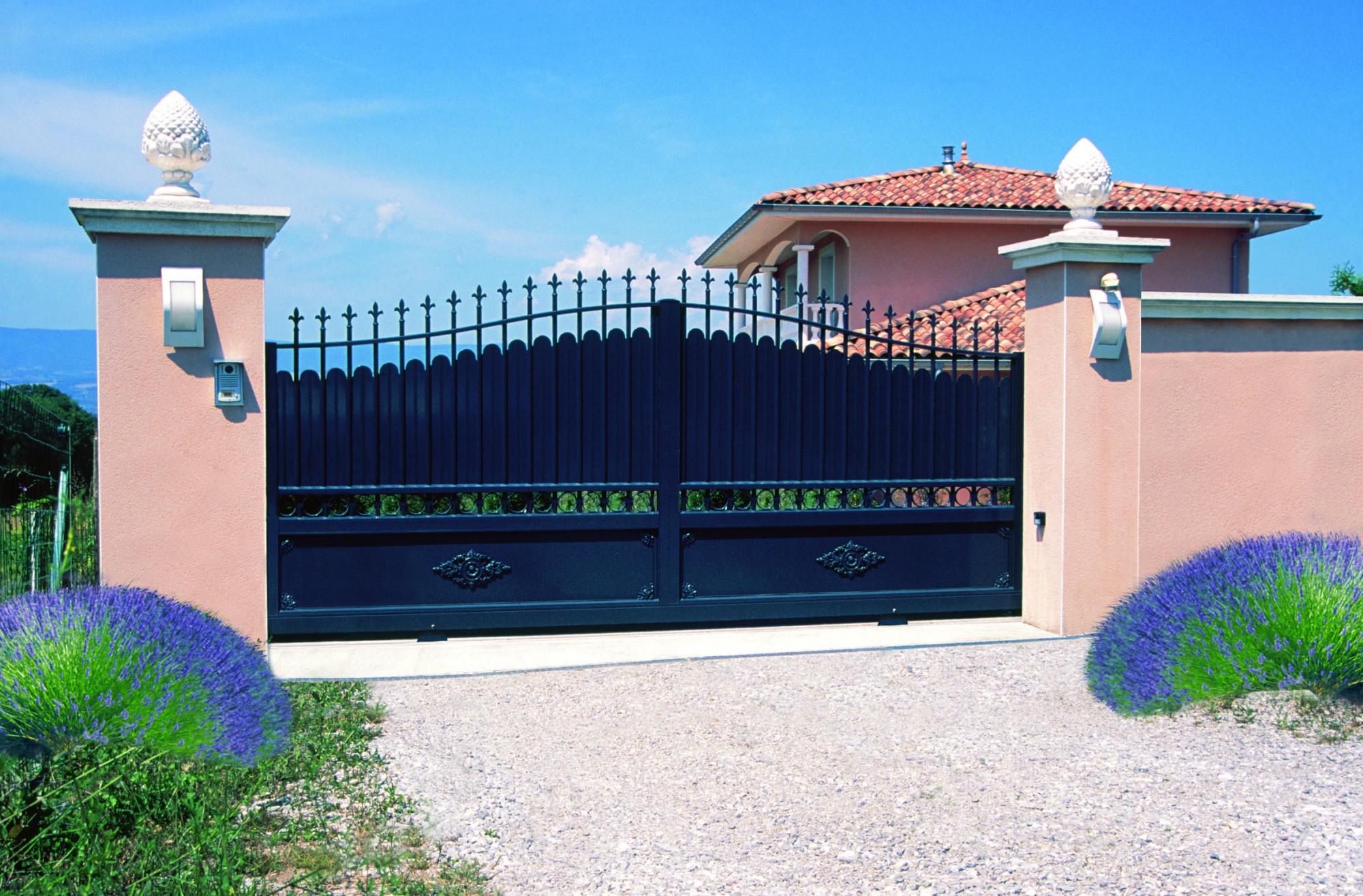 Applique exterieur pour pilier de portail for Pilier moderne