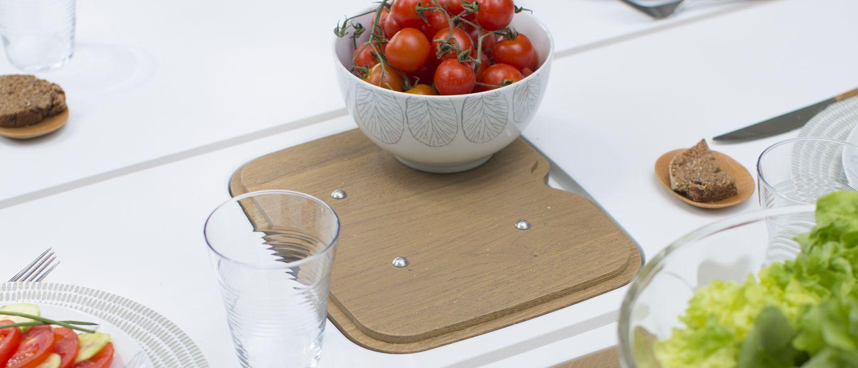 Table de jardin pvc grosfillex 2016 avec bac apero for Table de jardin 2016